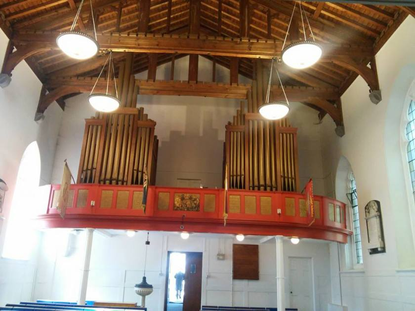 SS Peter and Paul parish church, Dagenham, Essex; organ gallery, west end