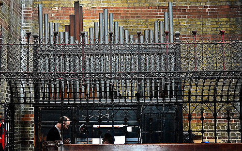 St Peter's church Vauxhall, south London, 1864; organ by T. C. Lewis 1870, c.2015