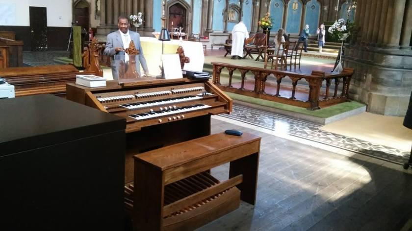 The church of St John of Jerusalem in Hackney, east London, UK; c.2016, Wyvern ST60 console.