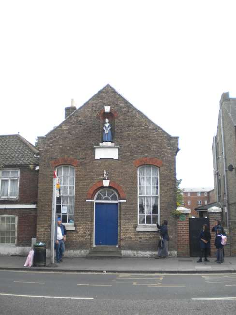The former Blue Coat Charity School for Girls in Church Street, Edmonton, north London.