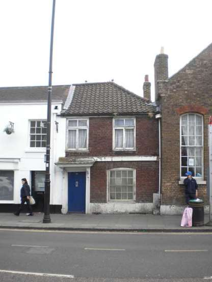 The teacher's cottage for the former Blue Coat Charity School for Girls in Church Street, Edmonton, north London.