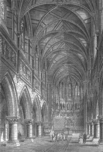 St Peter's church Vauxhall, south London, 1864; the nave, looking east