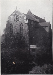 St Benet and All Saints, Kentish Town, London. the new chancel exterior, c.1930. [Source: 'In jubilaeo' (London: 1935)]