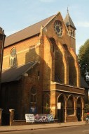 St Peter's church Vauxhall, south London, 1864; exterior, west end, c.2015
