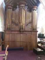 St Margaret's, Barking, original organ-case front (1770), now the organ's west facade