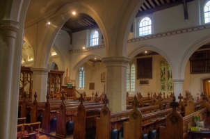 St Margaret's, Barking, the nave, from north to south