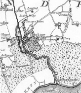 Map of Barking, 1777