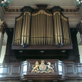 All Saints, Poplar (1823) the organ case c.2000