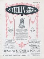 Advertisement for St Cecilia Organs by Henry Jones, early c20. (©Phillip J. Wells, 2016)