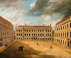 St Bartholomew's Hospital;, Smithfield, the courtyard (1732-69), designed by James Gibbs (1682–1754).