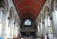 St Mary-of-Eton church (1890), London E9, looking east c.2000