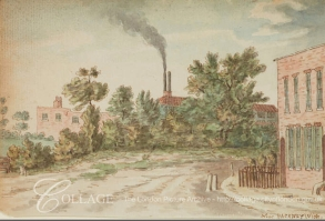 Factory buildings near Hackney Wick c1795