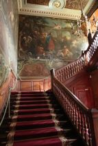 The Grand Staircase at Sr Barholomew's Hospital, decorated 1736–7 by William Hogarth (1697–1764), c.2000.
