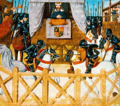Richard II's 1394 tournament at Smithfield depicted in Froissart's 'Chronicles'.