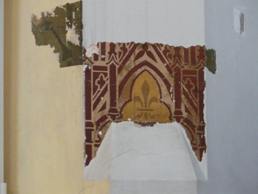 St Monica's Priory, Hoxton, London (UK); original wall decoration.