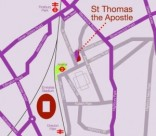 St Thomas the Apostle parish church, London N4: Location. the Church is on the corner of St Thomas Road & Monsell Road, London N4 2QP a few minutes walk from Arsenal tube station.