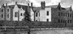 The East India Company Hospital (or Almshouses) in 1799.