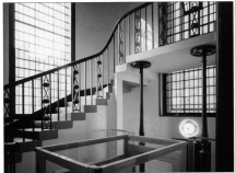 St Peter's Walworth (1825), staircase to west gallery, c.2014