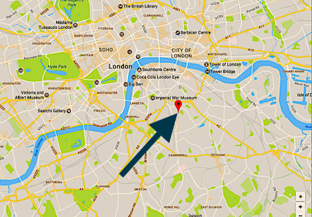 Location of St Peter's Walworth, London SE17