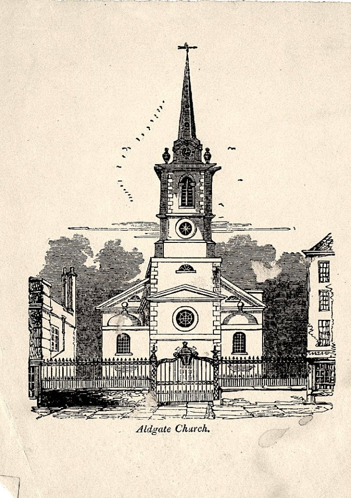 The church of St. Botolph-without-Aldgate, c.1850