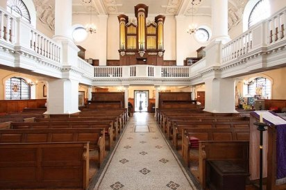 Church of St Botolph-without-Aldgate, London (1741-4); interior looking east (c.2000)