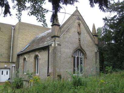 St Mary's Chapel, West Twyford, London, now incorporated into a later church building, c.1958