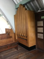 The pedal division of the organ by J. W. Walker and Sons (1963) in the church of St Joan of Arc, Highbury, London.
