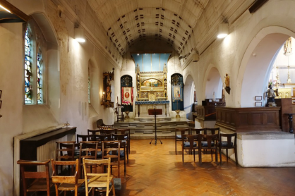 The Lady Chapel, 2002, in the church of St Augustine of Canterbury, Highgate, London (UK). (Source: London Churches in Photographs)