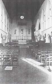 The church of St Augustine of Canterbury, the interior c.1975. (Source: Sanders, 1975).