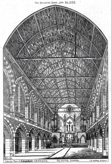 The church of St Augustine of Canterbury, the selected design by J. D. Sedding. (Source: Sanders, 1975).