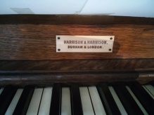 St Andrew Earlsfield, London UK, the organ (1921) by Harrison & Harrison of Durham, UK; builder's plate.