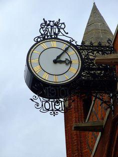 St Andrew's church, Earlsfiled, London UK. Clock.