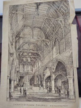 Design for St Andrew Earlsfiled, architect E. W. Mountford. 'Building News' 20 November 1891