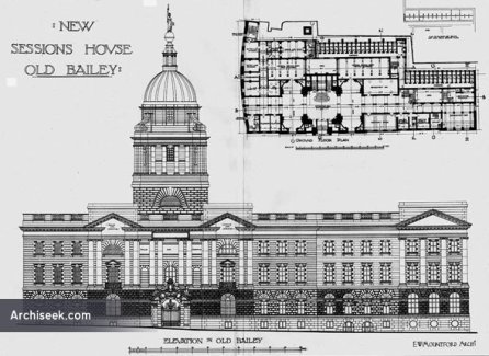 New Sessions House, 'Old Bailey', London (1906), architect E.W. Mountford.