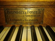 Old St Pancras Church, London Nw1. The organ; original builder's plate. Source: National Pipe Organ Register.