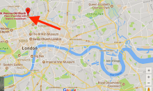 The location of St Pancars Old Church, London NW!
