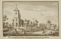 Anon. 'The south west view of St Pancras Church and the Wells' (1750) Source: London Mteropolitan Archive, ref.19970.