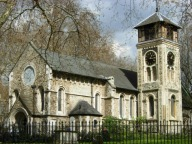 St Pancras Old Church, London NW1, south side, 2008. Source: Stephen McKay, CC BY-SA 2.0, https://commons.wikimedia.org/w/index.php?curid=13429363
