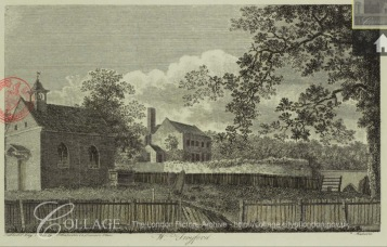 James Peller Malcolm (1767-1815). The chapel and manor house at West Twvford (c.1800). Source: Collage https://collage.cityoflondon.gov.uk