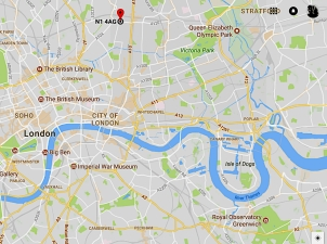 The location of Our Lady & St. Joseph's church, London N1 4AG.
