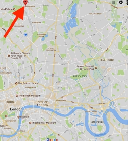 The location of the church of St Paul the Apostle, Wood Green, London N22.