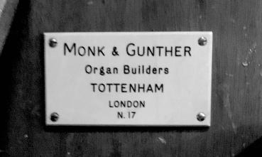 Detail: the pipe organ by Monk & Gunther (1975) in the church of St Paul the Apostle, Wood Green, London N22.