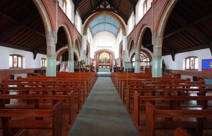 St Aldhelm's church, London N18, by W. D. Caröe (1903), looking east.