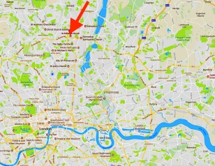 The location of St Aldhelm's church, London, N18 1PA