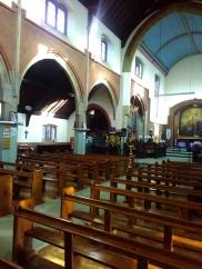 St Aldhelm's church, London N18 (W. D. Caroe, 1903), view north-east, 2017.