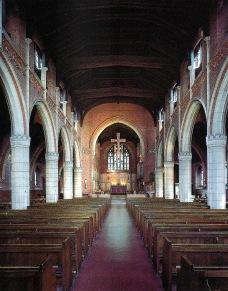 St Barnabas Walthamstow (1903) London E17, interior looking east. (Source: Litten, 2003)