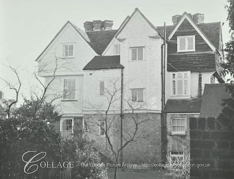 South elevation of Bury Lodge/Salisbury House, c.1969. Source: London Metropolitan Archive SC_PHL_01_650_69_35_65_4