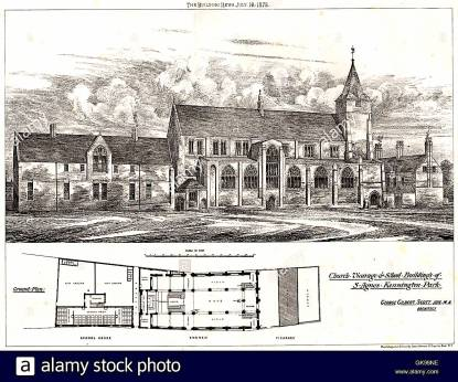St Agnes Kennington, London. Design (1975) by George Gilbert Scott Jnr. [Source Alamy Stock Photos https://www.alamy.com/]