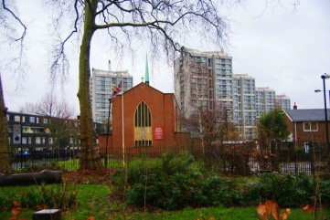 St Agnes Kennington Park, London.. West end.