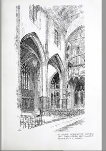 Interior of St Agnes Kennington c.1890. [Source: Architectural Review 5 (1898-99) 63]